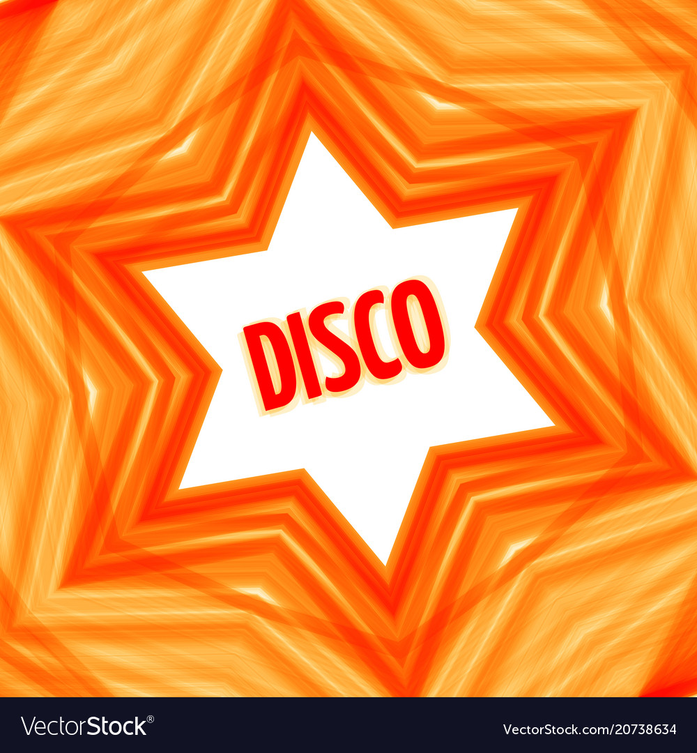 Red disco star background