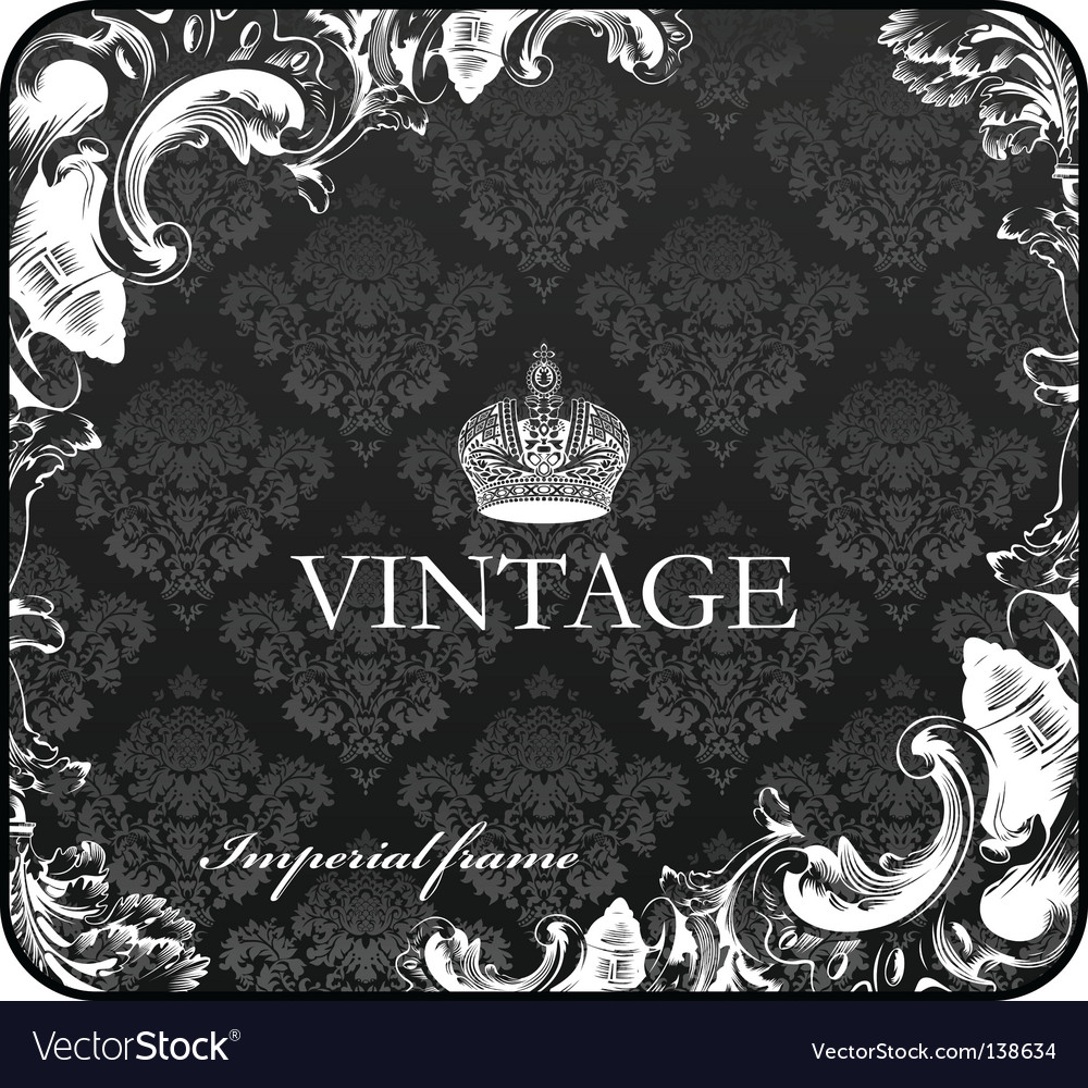 Seamless background floral ornament black vector image
