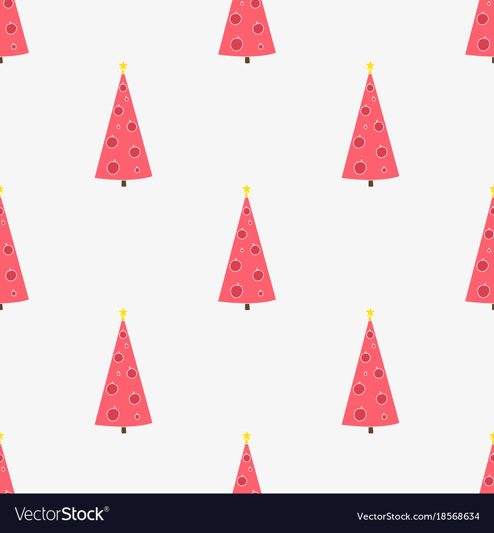 Seamless pattern with hand-drawn christmas trees