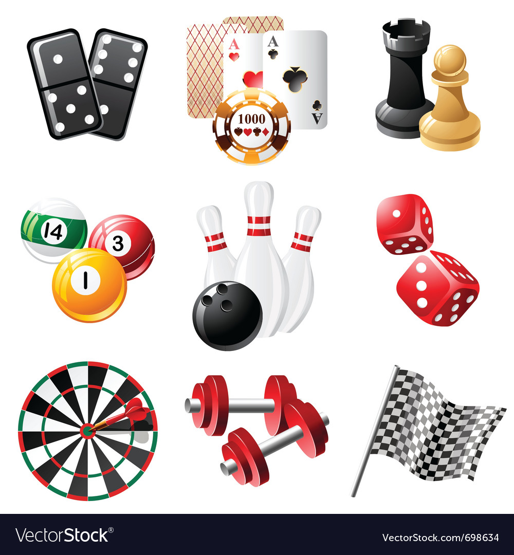 Sports and leisure icons set vector image