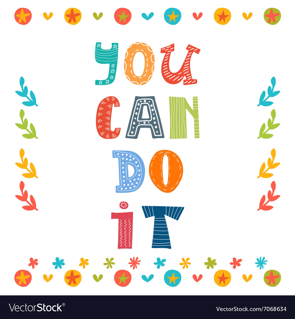 You can do it text with colorful design elements