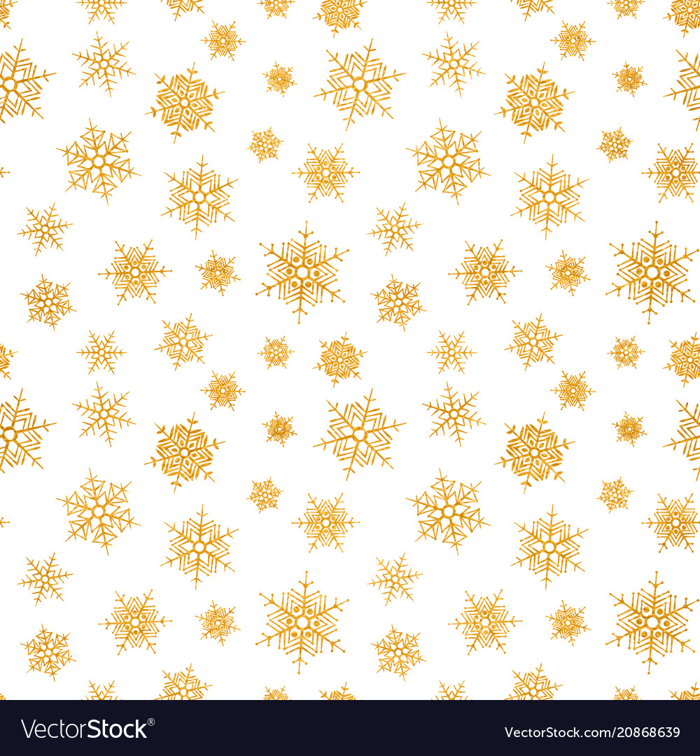 Abstract pattern falling snowflakes