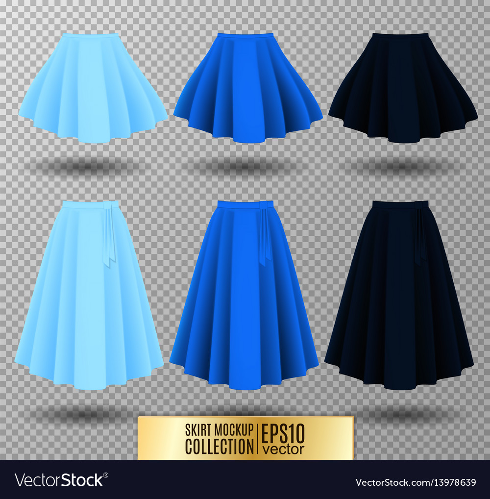 Different model skirt on