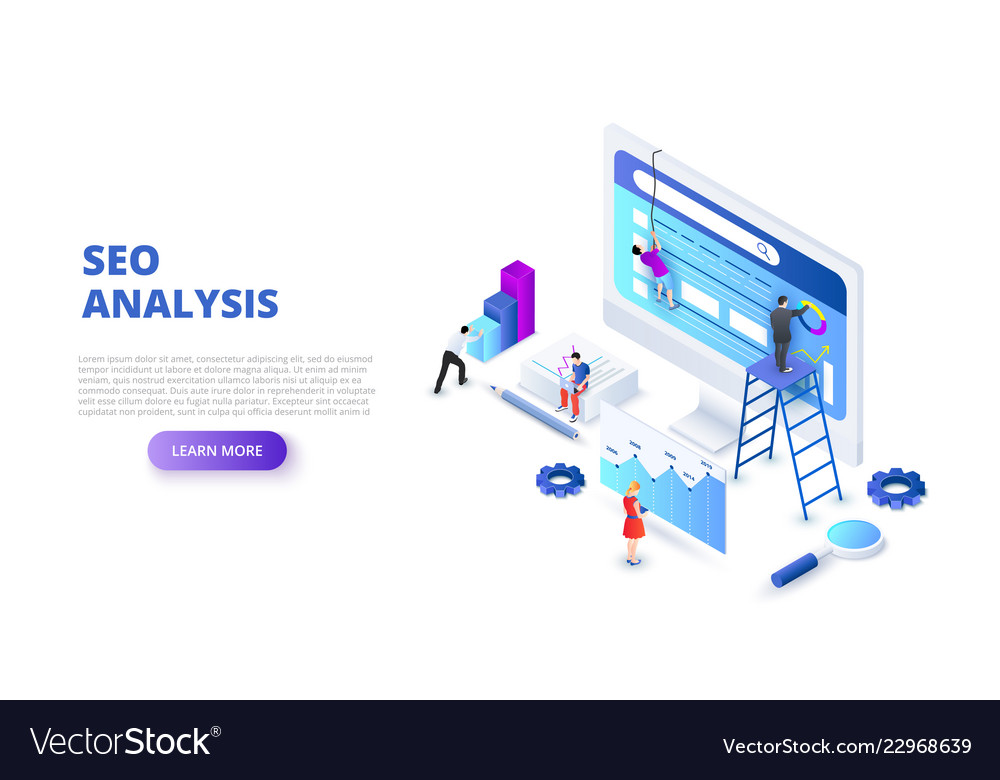Seo analyses and optimization design concept with