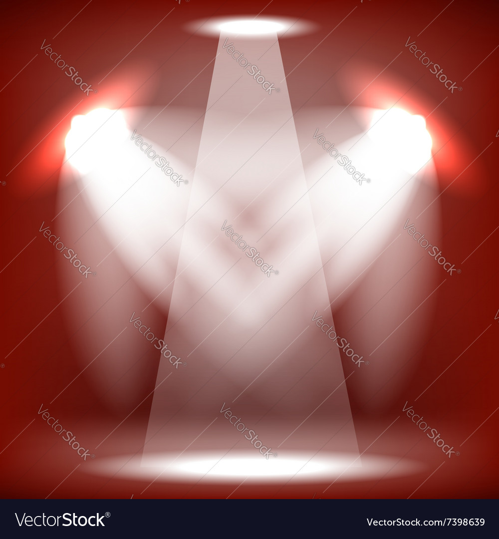Stage Spotlight Red Background