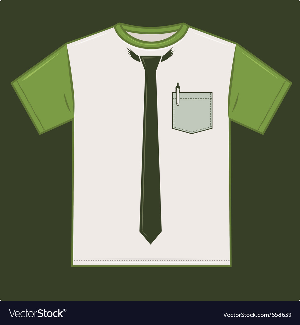 t shirt tie template royalty free vector image
