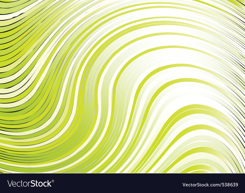 Wavy abstract backbround in green color vector image