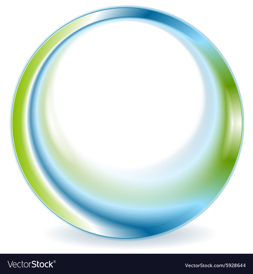 Bright green blue round circle logo design vector image