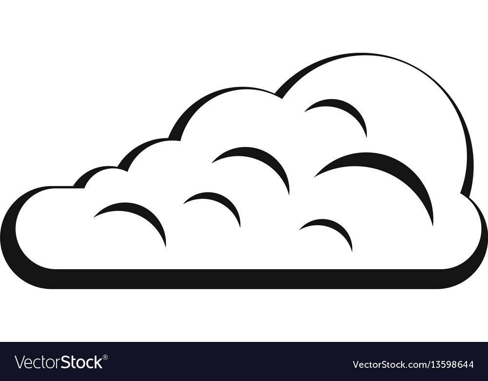 Cumulus Cloud Icon Simple Style Royalty Free Vector Image