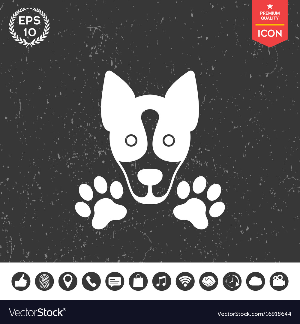 Dog paw - logo symbol protect sign