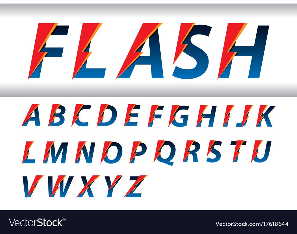 Flash speed alphabet