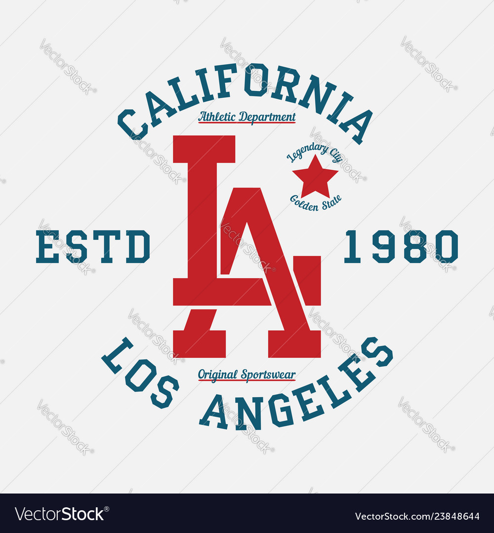 Los angeles california typography for t-shirt