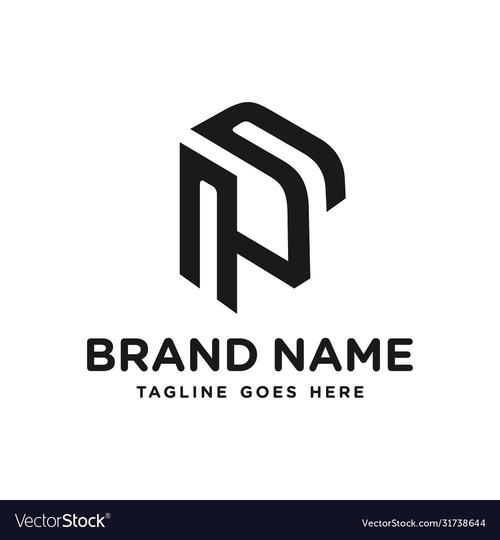 Monogram logo letter p