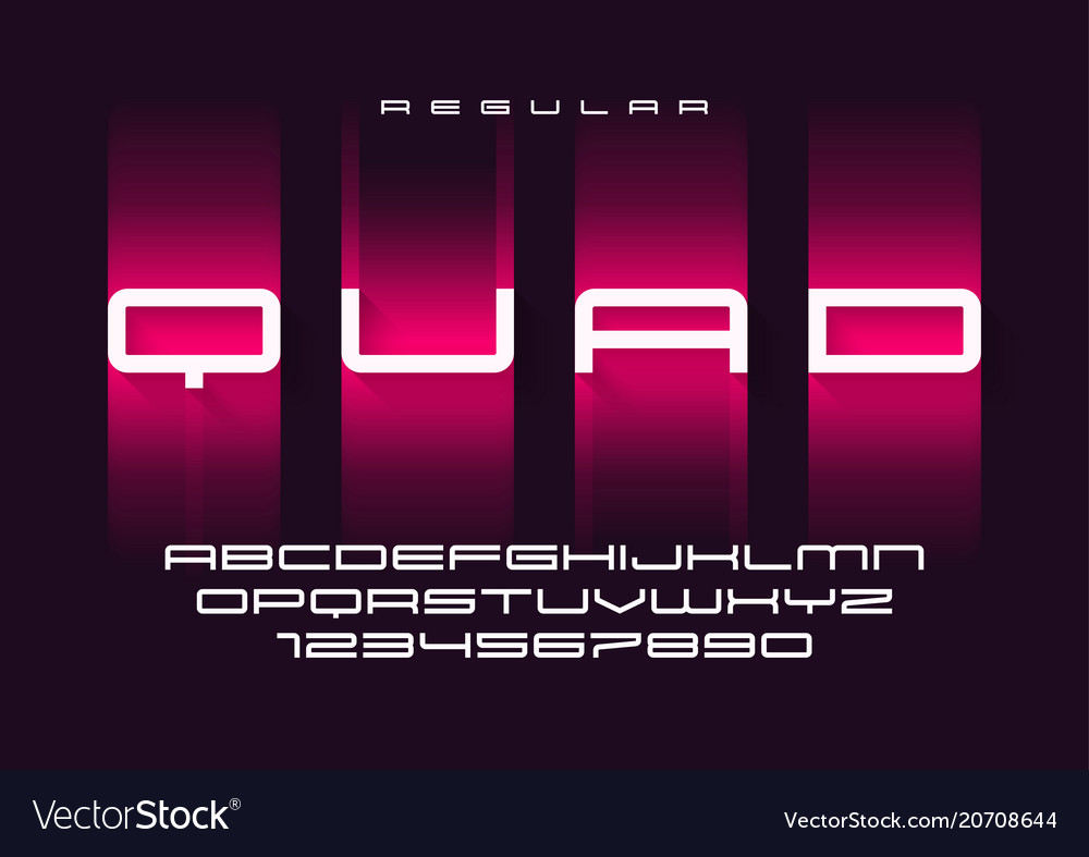 Quad regular futuristic sports typeface
