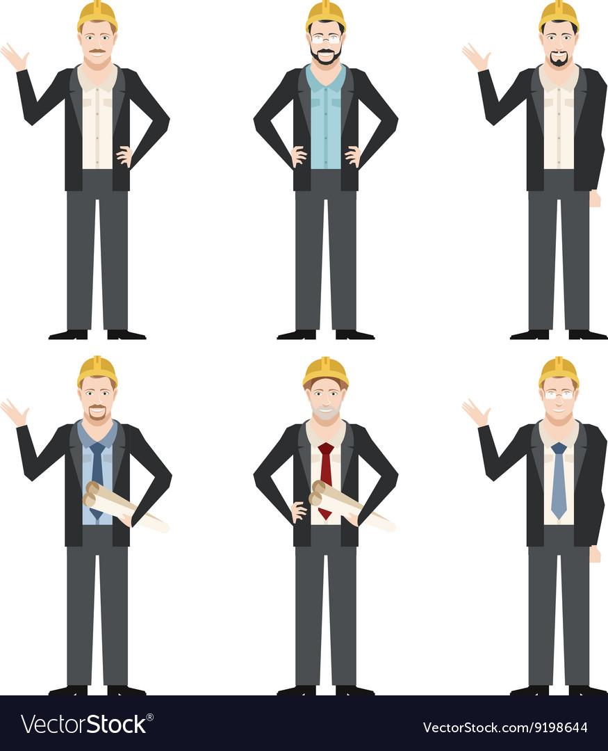 Set of engineer men2