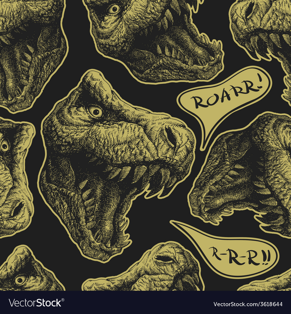 Trex seamless background Eps8 vector image