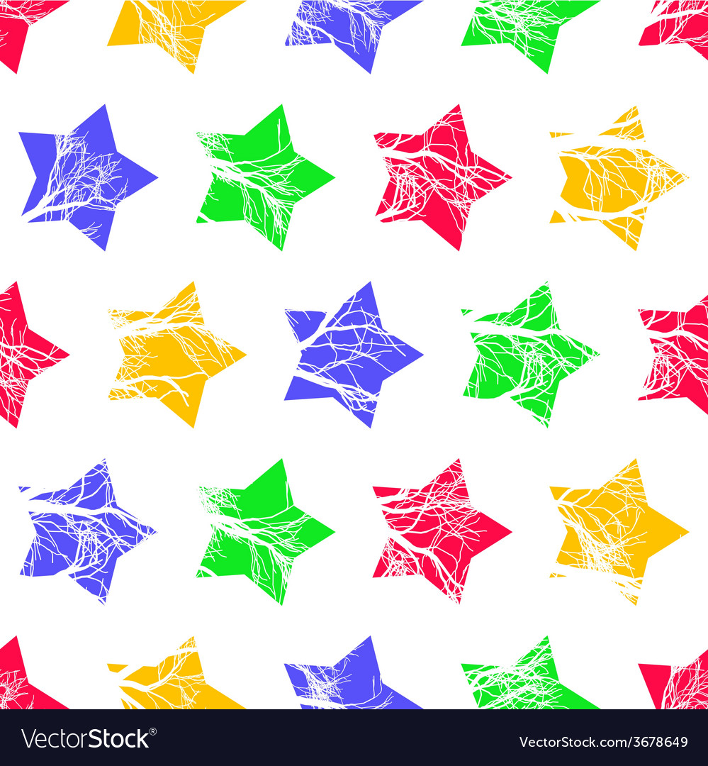Abstract Colorful Stars Seamless Pattern