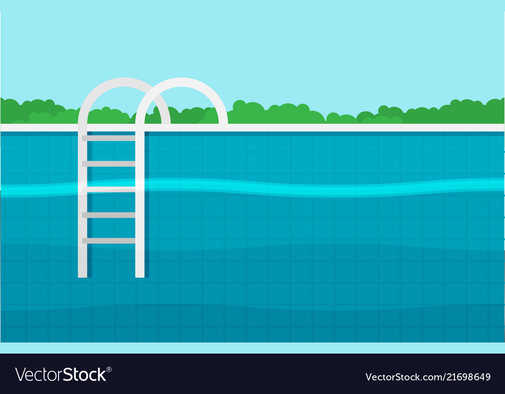 Background of swimming pool flat