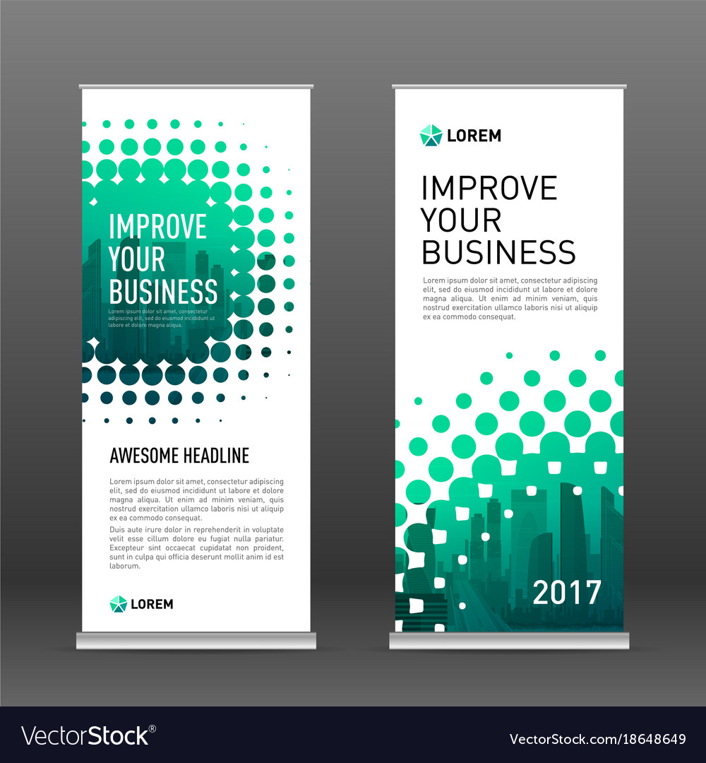 Construction Vertical Banner Design Template Vector Image