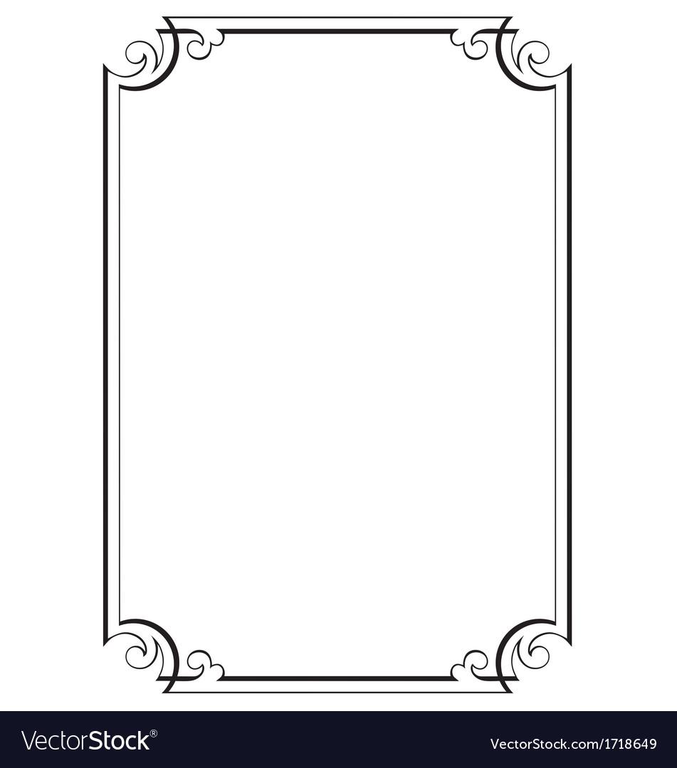 decorative page border royalty free vector image rh vectorstock com decorative border vector free decorative border vector free