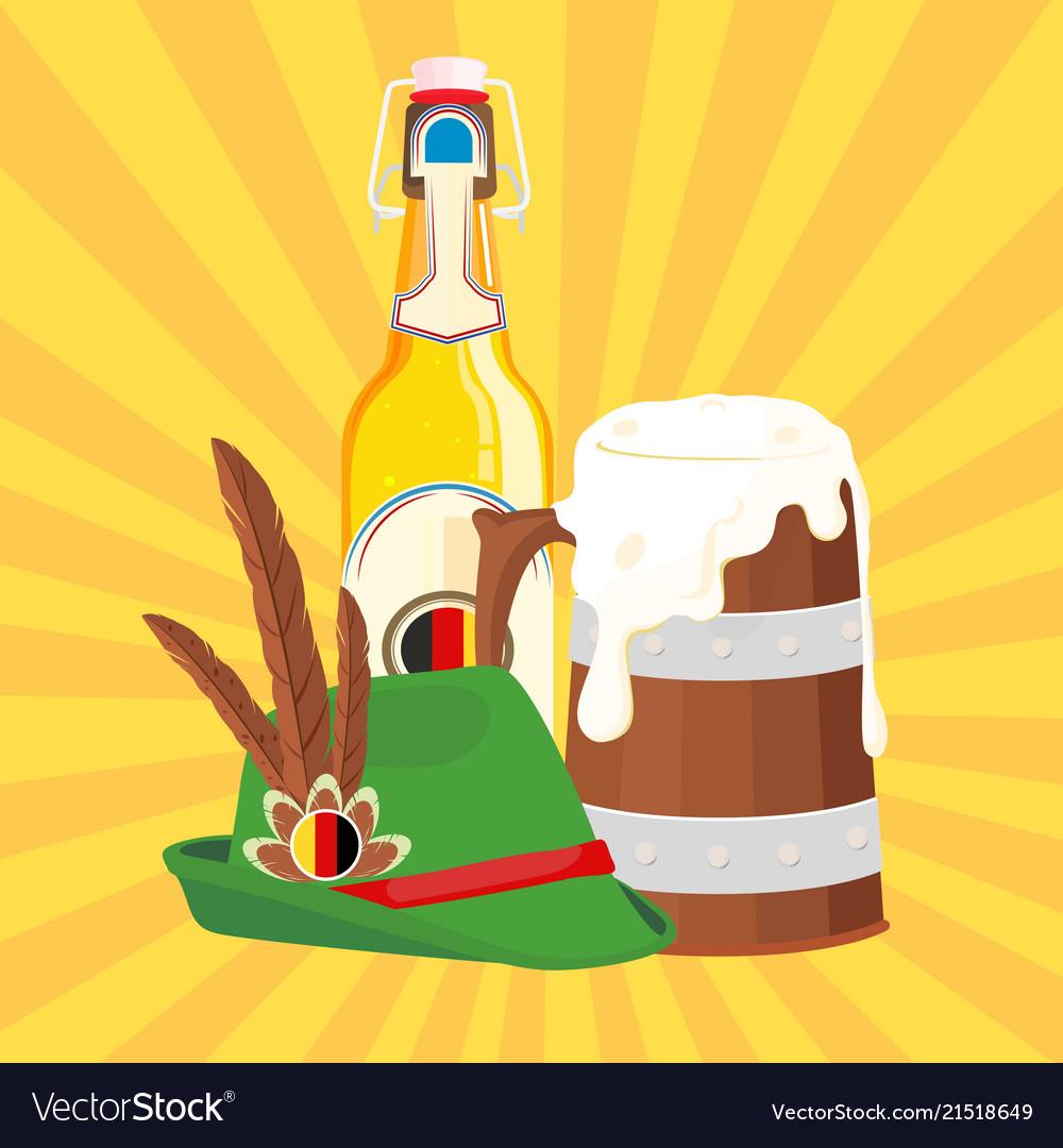 Drink mug bottle of beer hat background ima