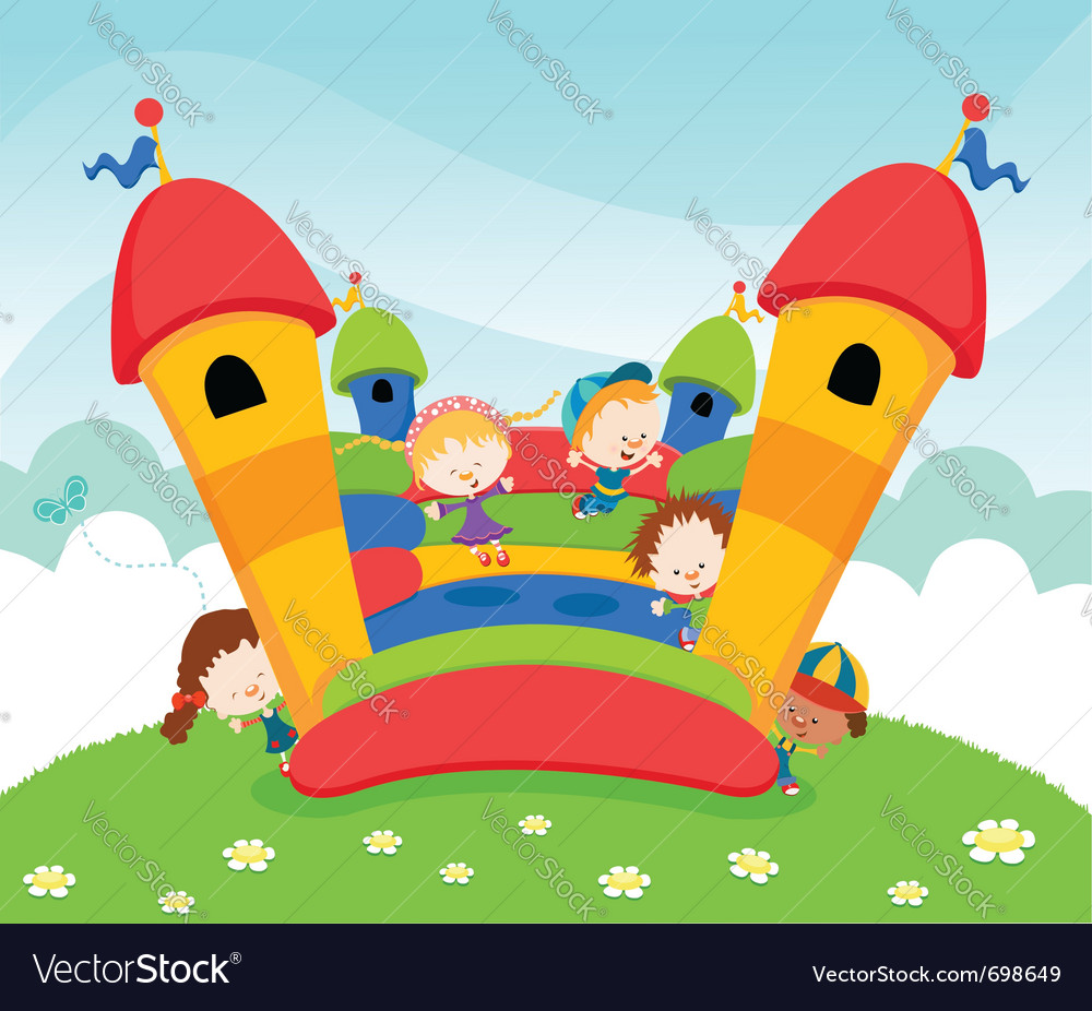 Jumping castle vector image