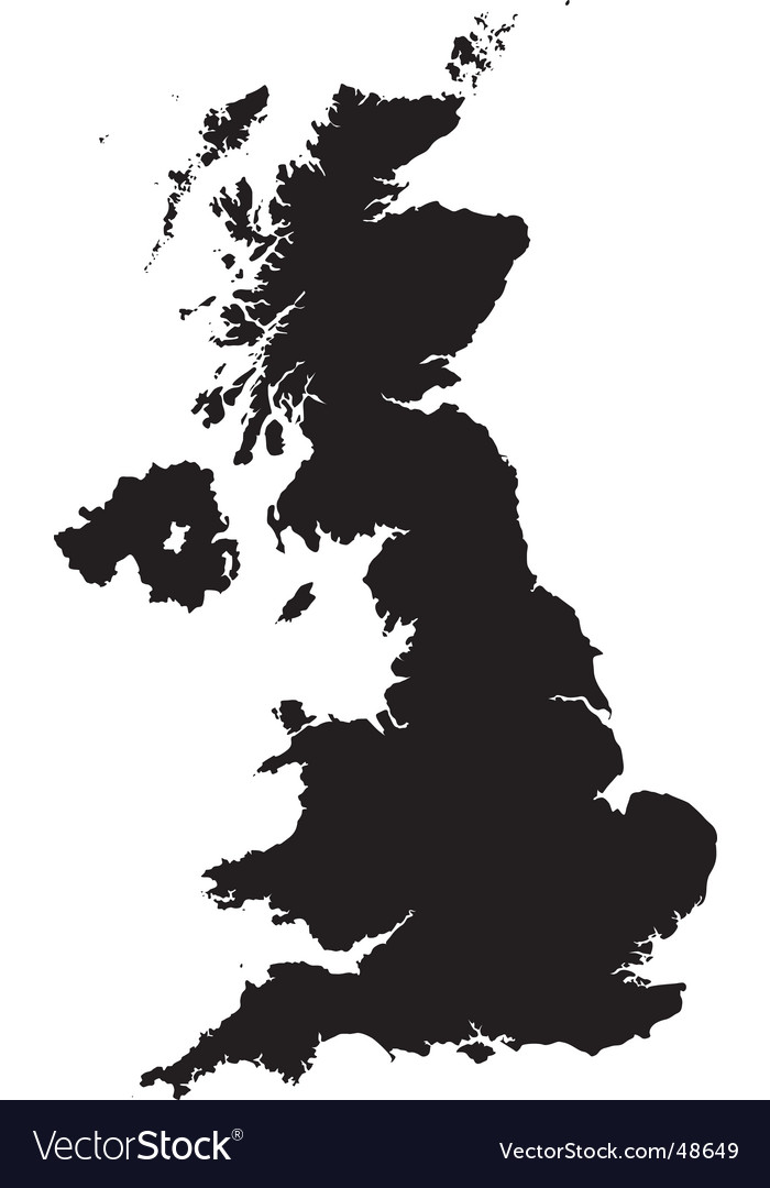 Uk Map Vector Map of Britain Royalty Free Vector Image   VectorStock