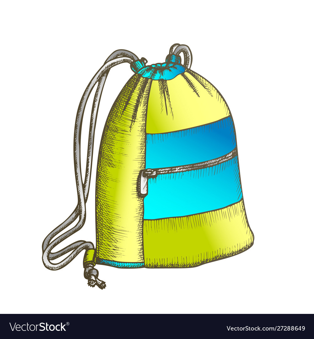 Modern luggage bag with ropes color