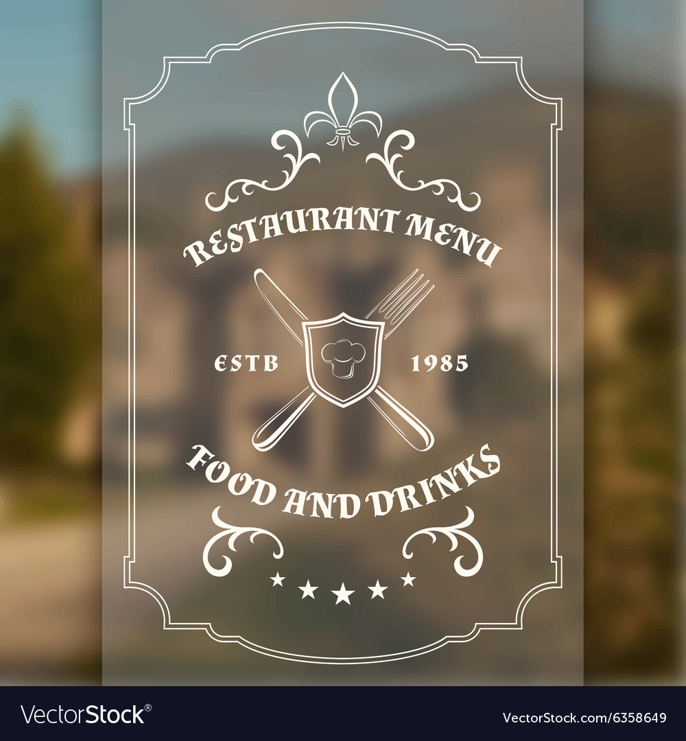 Vintage restaurant or cafe menu template