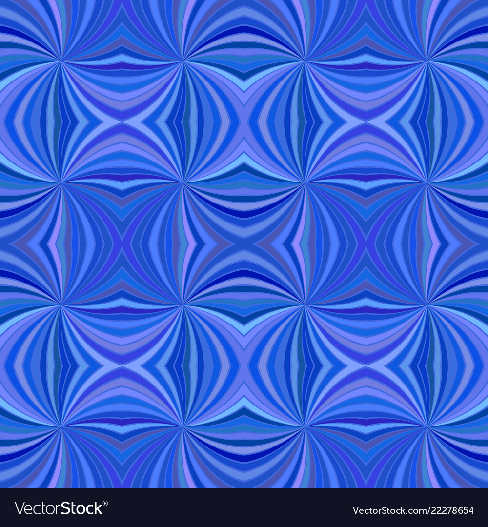Blue seamless abstract psychedelic curved ray