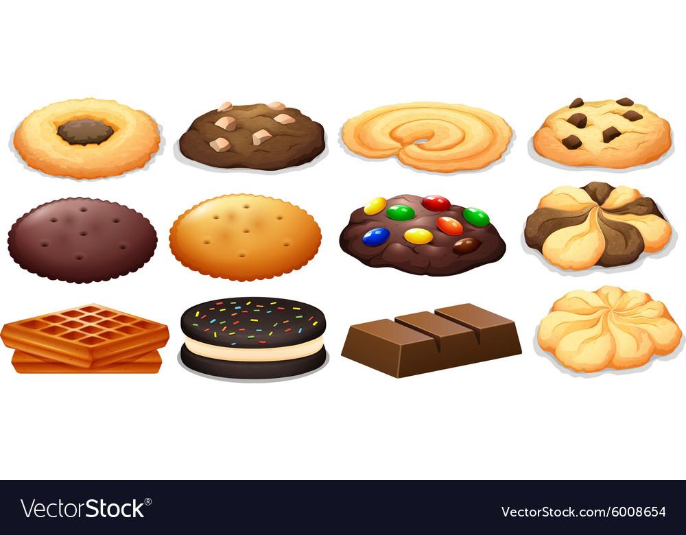Cookies and chocolate bar
