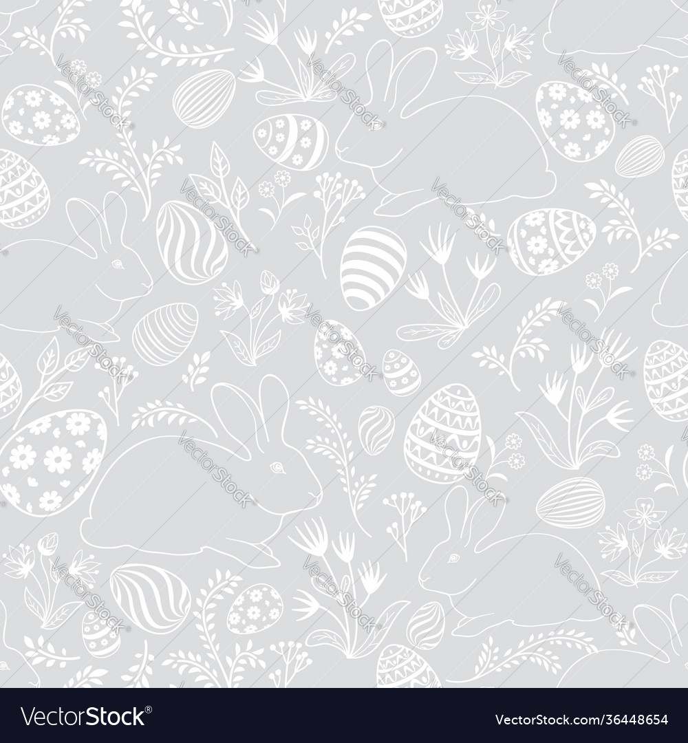 Easter holiday seamless pattern spring gentle