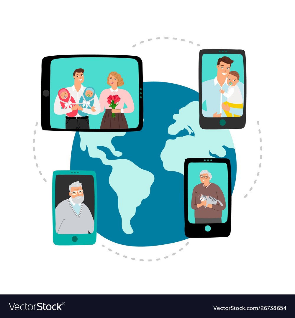 Family video chat global network communication