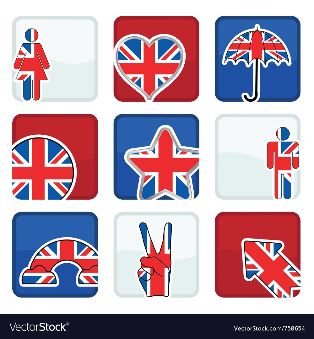 great britain icons royalty free vector image vectorstock