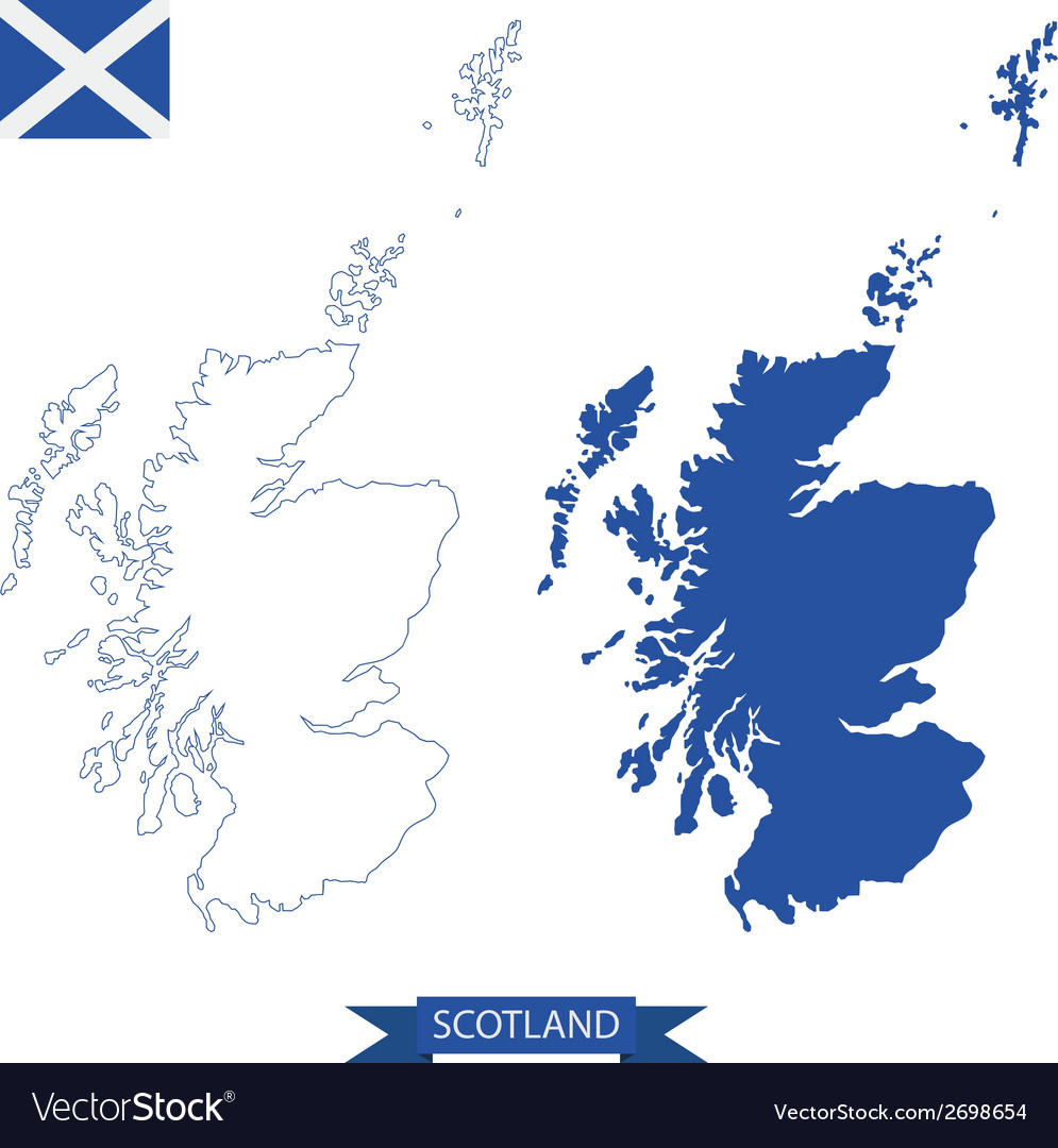 Map of scotland Royalty Free Vector Image - VectorStock