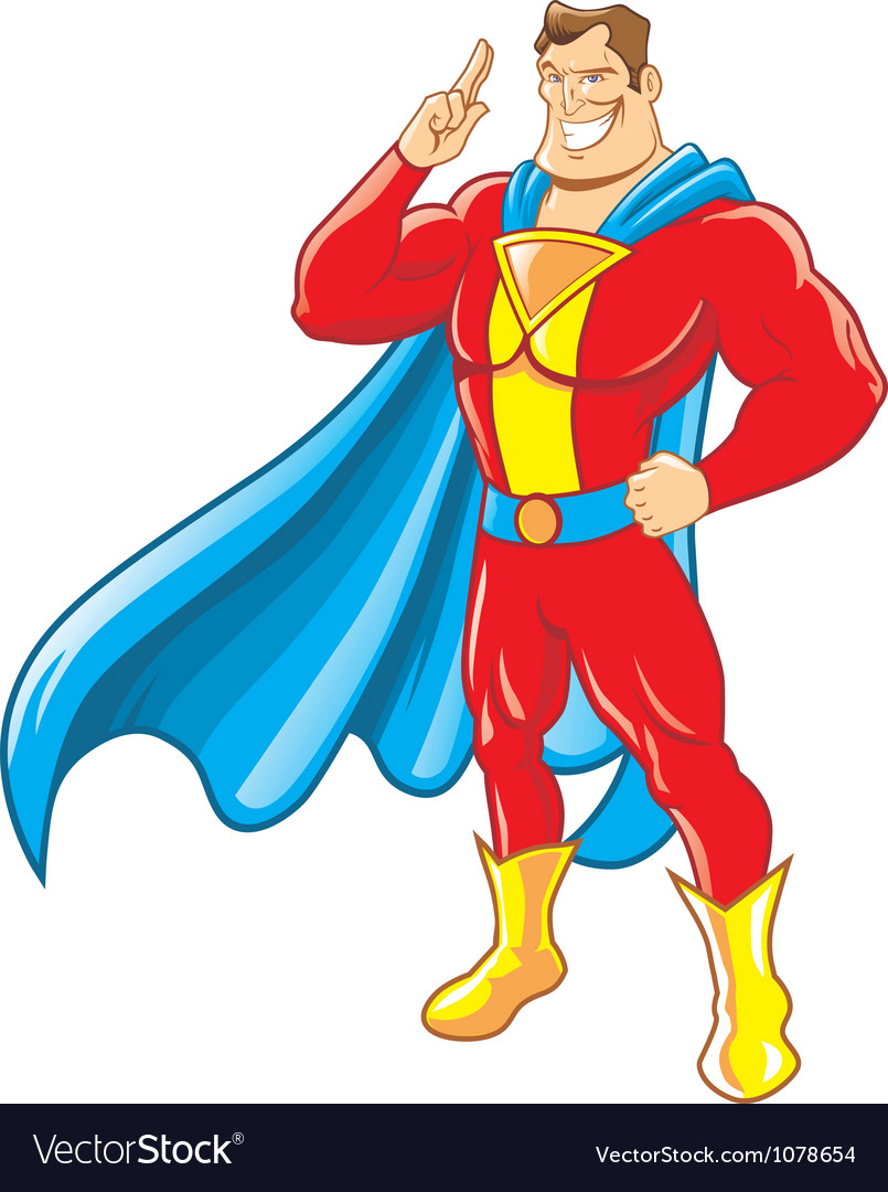 superhero royalty free vector image vectorstock rh vectorstock com super hero vector super hero vector free download