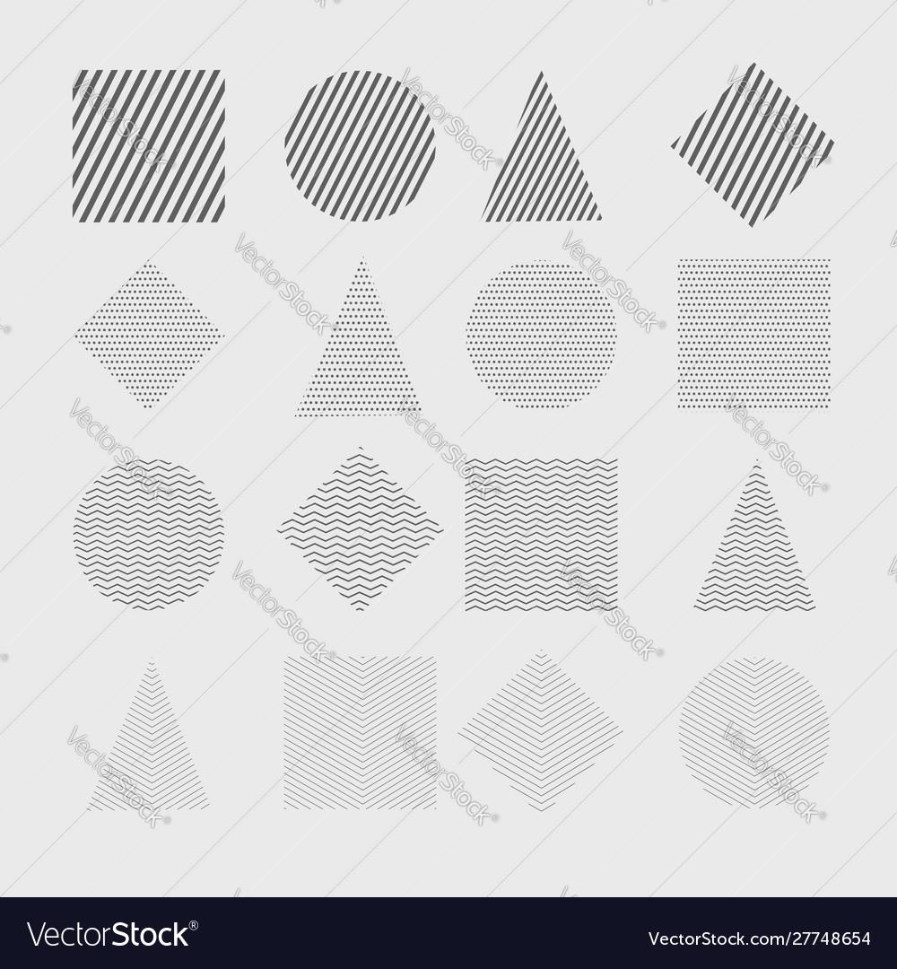 Trendy geometric shapes set