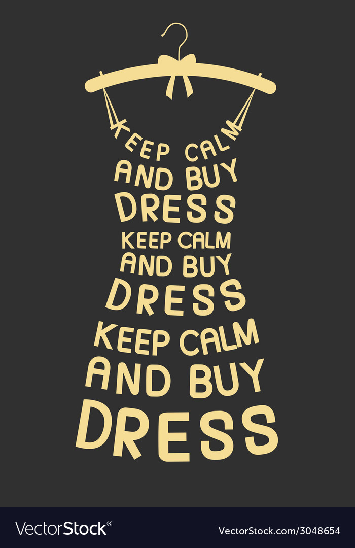 w dress from quotes royalty vector image