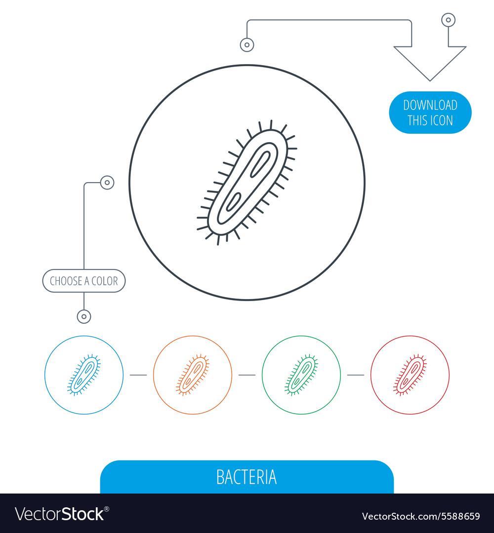 Bacteria icon Medicine infection symbol
