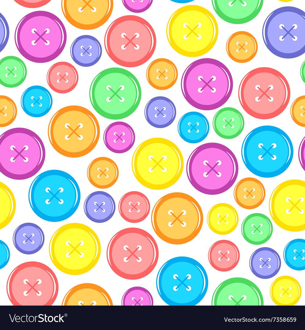 Button seamles vector image