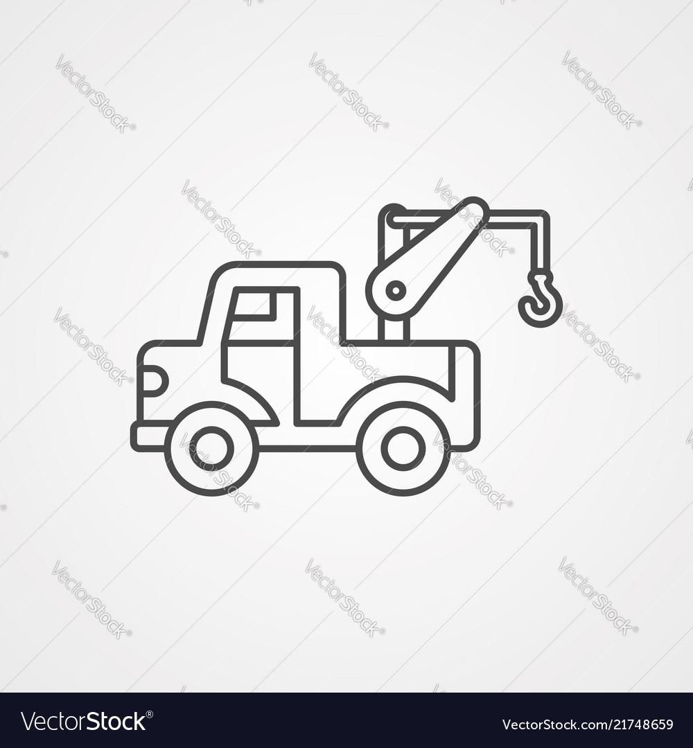 Crane icon sign symbol