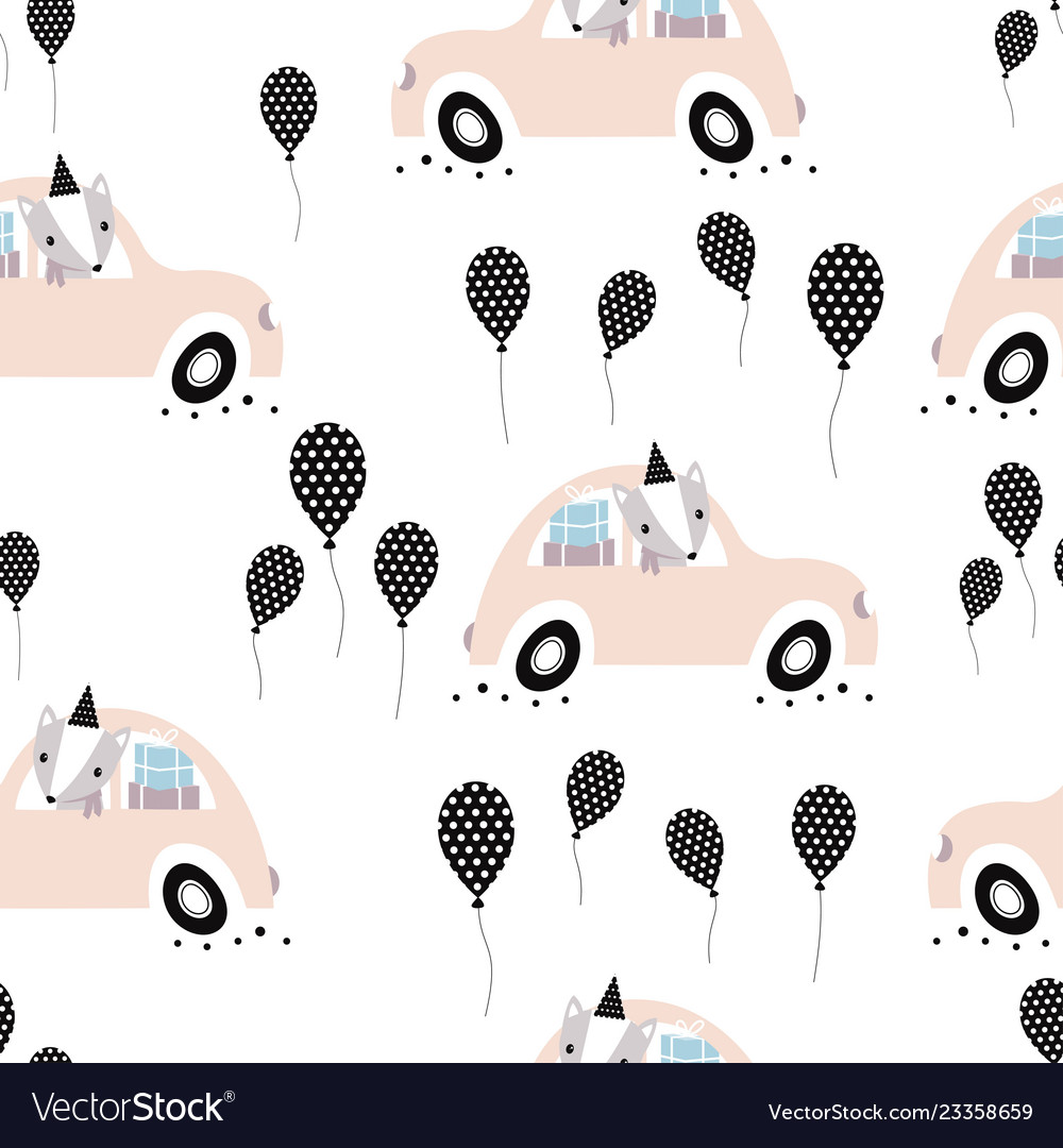 Pattern with holiday car