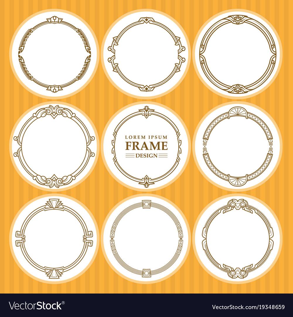 Round frames set design element