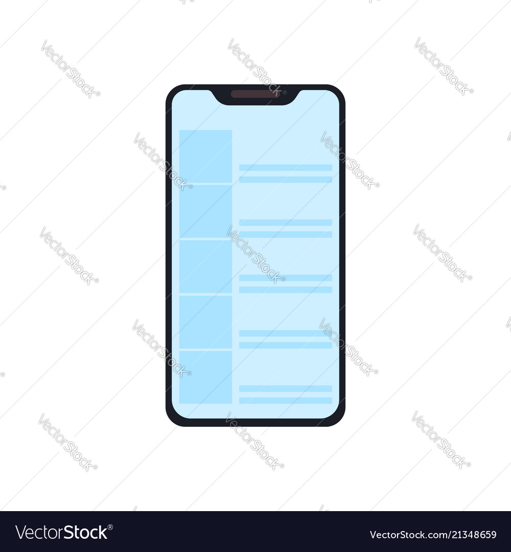 Smartphone icon in a modern flat style modern