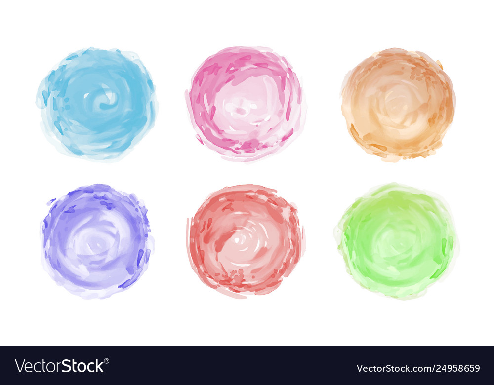 Watercolor brush isolated on white background