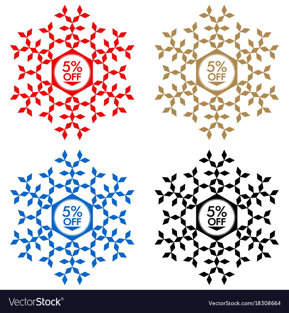 60 off discount sticker snowflake 60 off sale