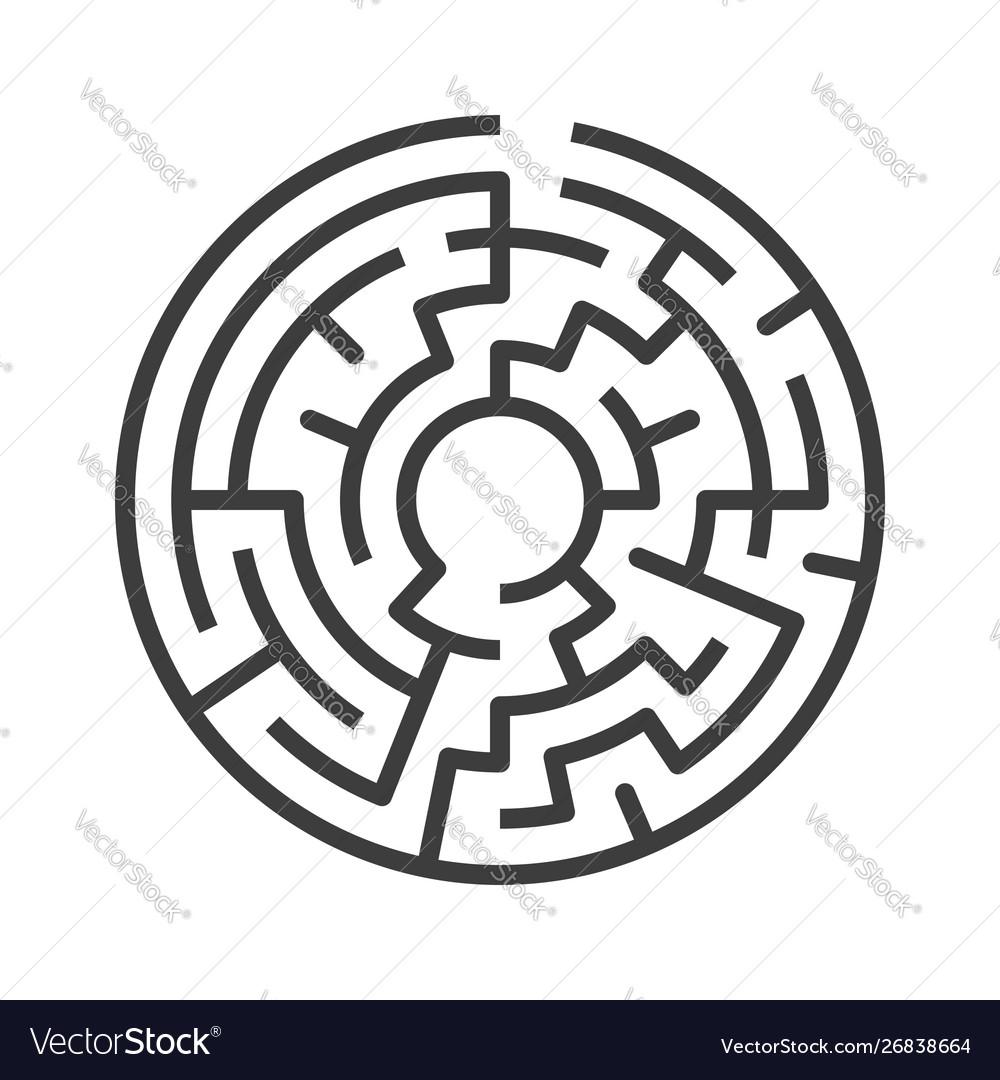 Circular maze isolated