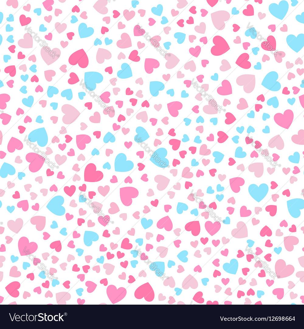 Cute little hearts in seamless pattern