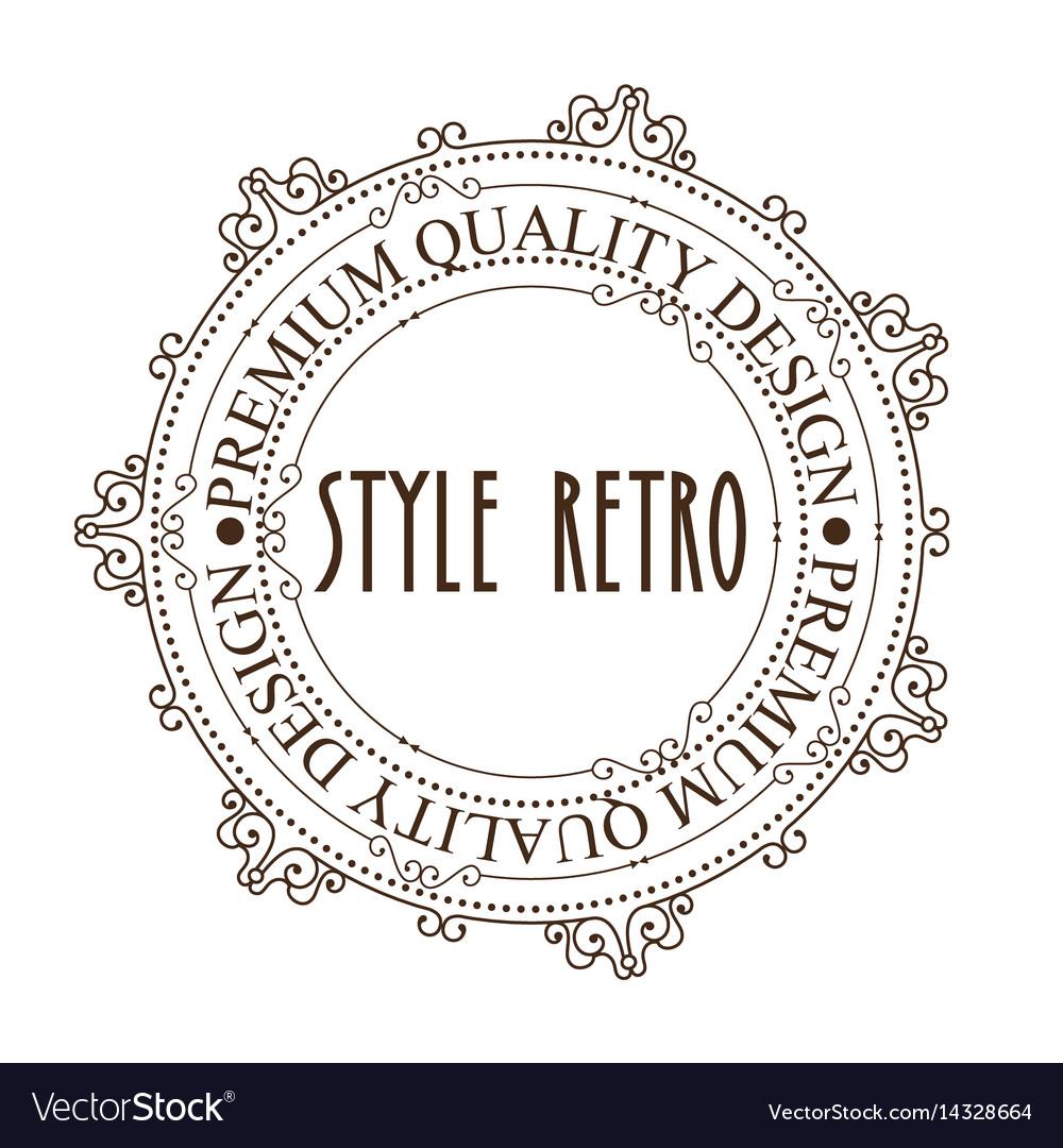 Elegant frame style retro