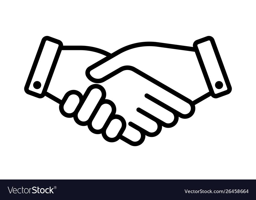 Hand shake business partner agreement icon